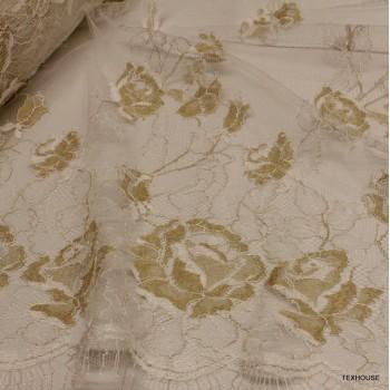 Дантела Valentino бяла и златно