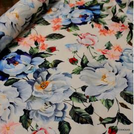 Памук Dolce & Gabbana сини цветя