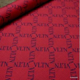 Фина вълна Valentino с монограм червен пепит