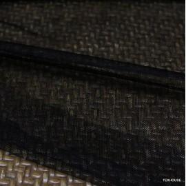 Тюл копринен Gucci черен