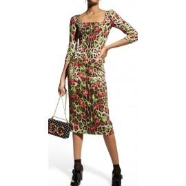 Коприна Dolce &Gabbana леопард и череши