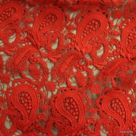 Дантела плътна червена Valentino
