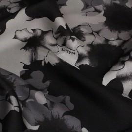 Коприна  Versace сиво-черна