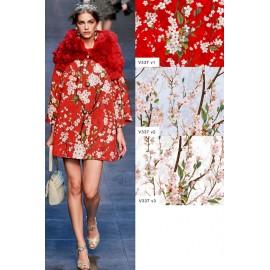 Ест. шифон червен Dolce&Gabbana
