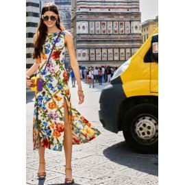 Коприна Dolce & Gabbana цветя с ромбчета