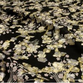 Шифон Valentino златни цветя