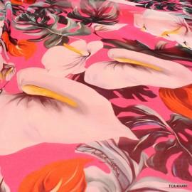 Шифон Dolce Gabbana бяли лилии