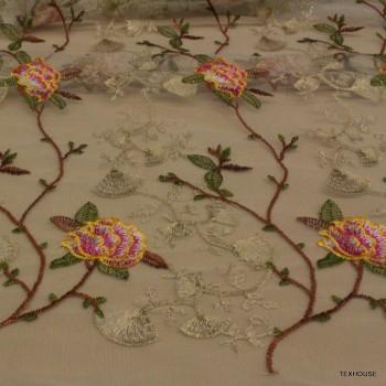 Тюл Blumarine златни цветя