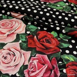 Коприна Dolce &Gabbana точки и цветя