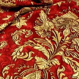 Креп коприна Dolce Gabbana златни шарки