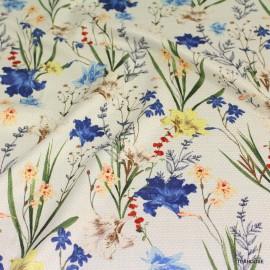 Фин памук Marni сини цветя