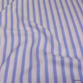 Памук Celine бяло-синьо райе