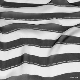 Шифон CNC черно-бяло райе