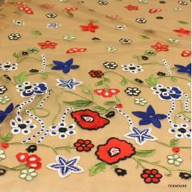 Дантела Blumarine тюлена червени цветя