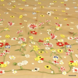 Дантела Blumarine тюлена жълти цветя