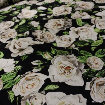 Коприна Dolce & Gabbana бяли рози