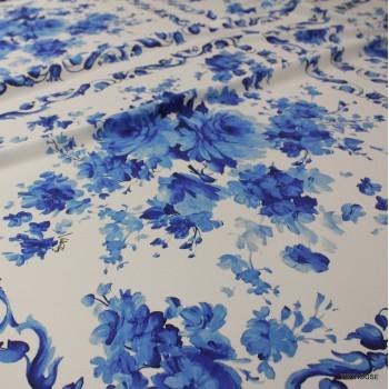 Коприна Valentino сини цветя