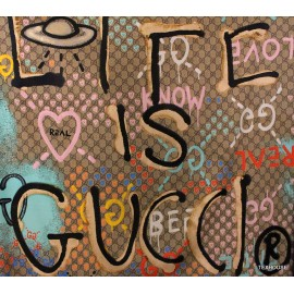 Коприна Gucci букви