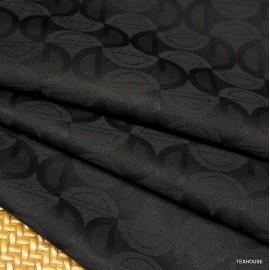 Фина студена вълна Dolce & Gabbana черна с лого