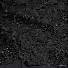 Дантела Dolce&Gabbana с мъниста черна