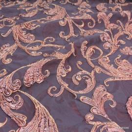 Жакардова тафта Scervino лилава с шарки
