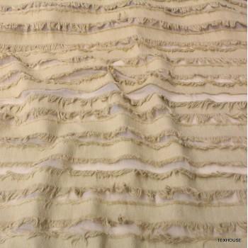 Памук Marni с ресни бежов