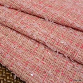 Букле Chanel розово с рафия и пайети