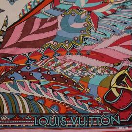 Коприна Louis Vuitton сърце