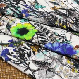 Памук Dior сини цветя